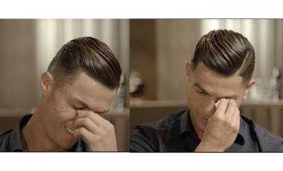 Cristiano Ronaldo breaks down in tears after watching emotional video of his late father praising him?for the first time (Watch Video)