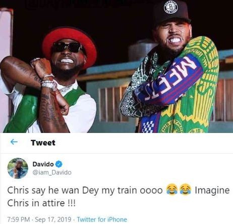 #Assurance2020: Chris Brown says?he wants to be on my train - Davido