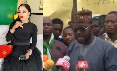 Youths protest against Bobrisky, tells IGP and DSS to stop him (video)