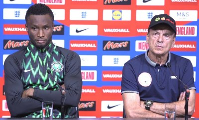Mikel Obi was angry with Gernot Rohr for giving his position to Alex Iwobi and wanted him removed from stating line-up - BBC Reporter reveals