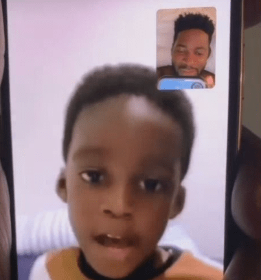 Teebillz shares adorable video of his son, Jamil, singing happy birthday to him in french