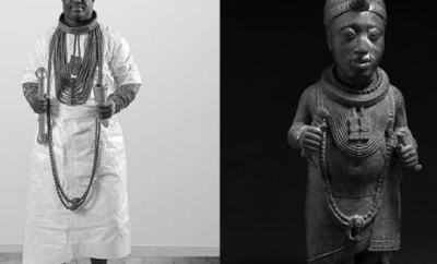 Ooni of Ife recreates photo of the 4th Ooni of Ife who