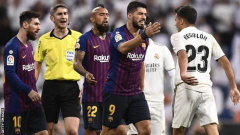 Real Madrid last beat Barcelona in the league in April 2016