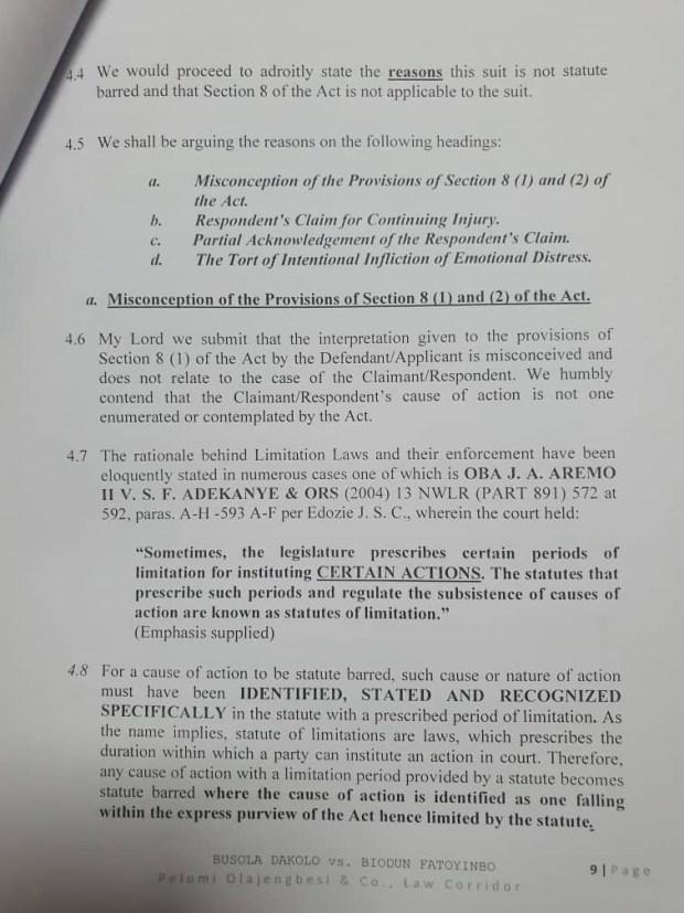 Rape: Busola Dakolo files a counter to Pastor?Biodun Fatoyinbo