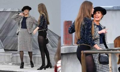 Gigi Hadid confronts runway crasher at Chanel Paris fashion show
