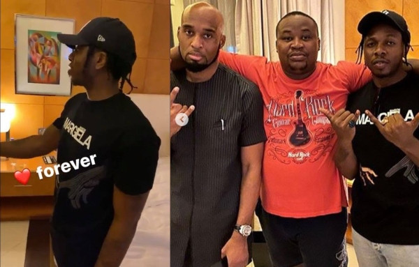 Runtown spotted shaking hands with CEO of his former record label Okwudili Umenyiora, after issuing an apology to him (Video)