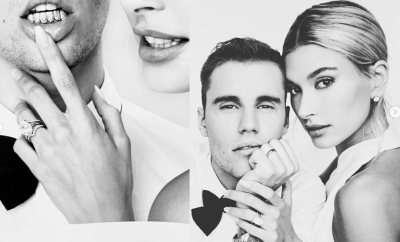 Hailey and Justin Bieber flaunt $750k worth of jewels including their wedding bands in new intimate wedding portraits (Photos)