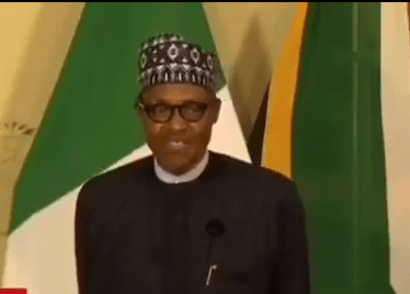 "#Xenophobia: ""When you are in a foreign country respect their laws"" President Buhari tells Nigerians (video)"
