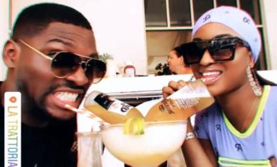 Ex-BBNaija housemates, Tobi Bakre and Kim Oprah vacation in Florida ( Photos)