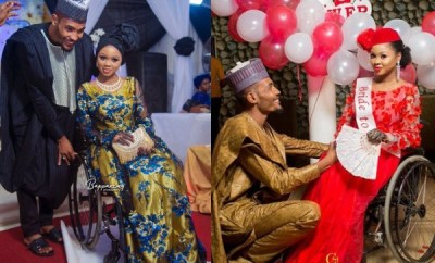 Physically challenged Nigerian lady marries