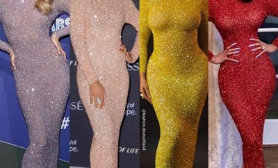 Between Beyonce, Cardi B, Kelly Rowland and Jasmine Sanders, who wore this sequined bodycon floor-length gown better?