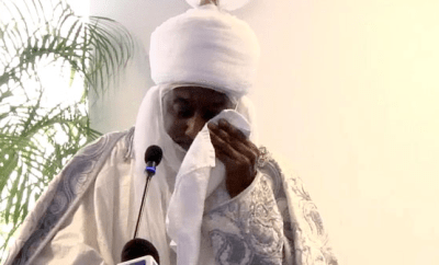 Emir Sanusi cries as he narrates how a sick child died in his mother