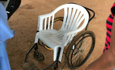 Plastic Chair allegedly used as Wheelchair at emergency unit of University of Nigeria Teaching Hospital (UNTH)