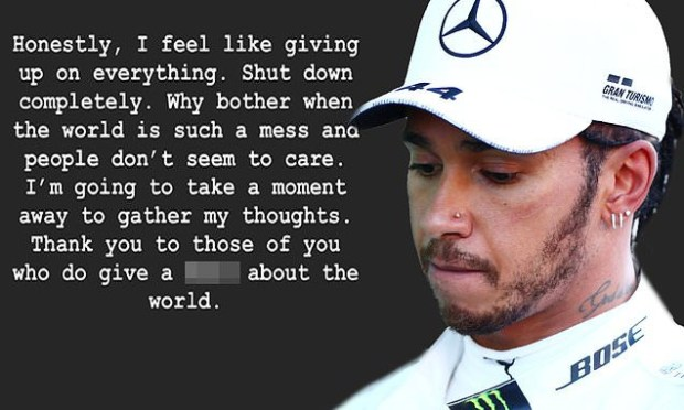Lewis Hamilton sparks concern as he tells fans he feels like