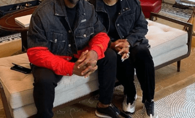 Biodun Fatoyinbo shares photo of himself and his wife twinning in Denim