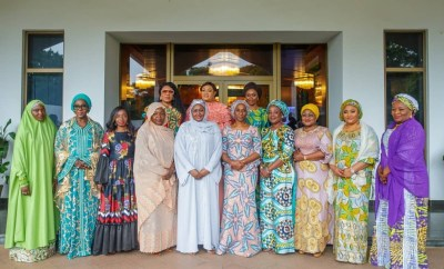 Wives of state governor, Senators, others pay Aisha Buhari courtesy visit