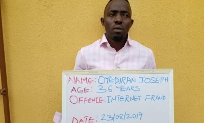 FBI suspect, Oyediran bags one year imprisonment