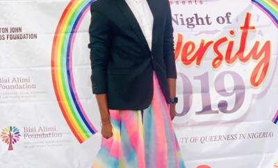 Bisi Alimi pictured at the first ever LGBT Pride event in Lagos organized by him