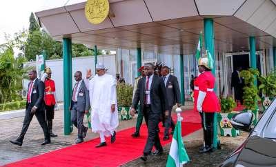 Photos:  President Buhari departs Abuja for South Africa