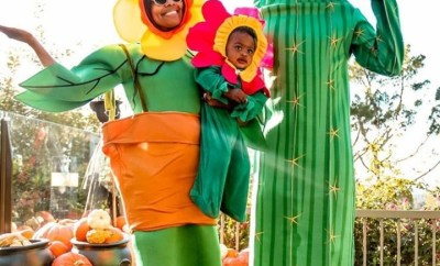 The Wades transform into plants for Halloween (photos)