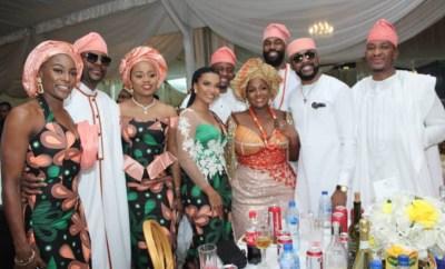 Photos: Dangote, Femi Gbajabiamila, BankyW, Ebuka, others attend funeral of OAP, Toolz Demuren