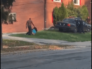 Moment Police shoot man while he was attempting to