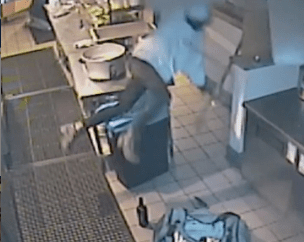 Woman falls through ceiling of California restaurant after breaking in to steal (video)