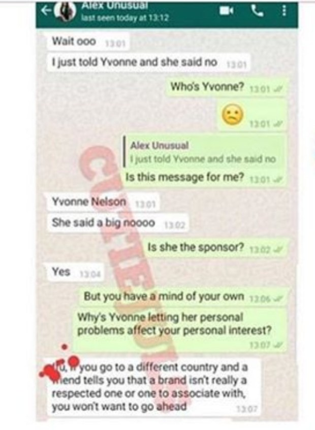 """""""Please forgive me"""" Ifu Ennada apologizes after chats between her and Alex leaked and showed her insulting Yvonne Nelson"""