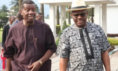 Pastor Adeboye visits Governor Wike in Rivers State (Photos)