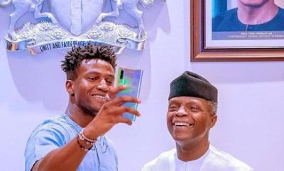VP Yemi Osinbajo hosts?young Nigerian tech Inventor, Silas Adekunle (Photos)