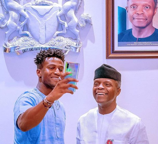 VP Yemi Osinbajo hosts?young Nigerian tech Inventor, Silas Adekunle (Photos)