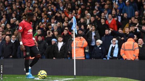 Fred was about to take a Manchester United corner when the incident happened