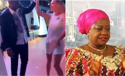 Fayose spotted dancing with white woman after being allowed to travel abroad for medical treatment, Lauretta Onochie reacts