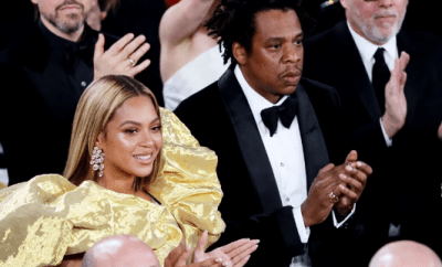 Moment people stopped to stare as Beyonce and Jay-Z made an entrance to the Golden Globes (video)
