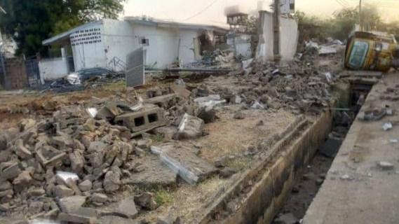 Police deny participating in demolition of Saraki