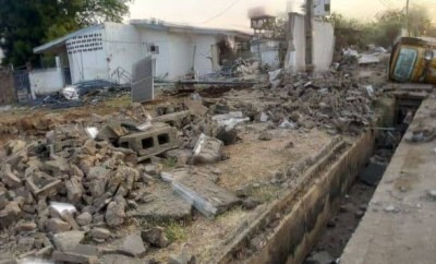 Police deny participating in demolition of Saraki