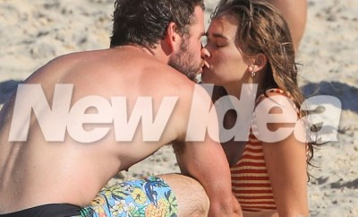 Liam Hemsworth confirms romance with model Gabriella Brooks as they kiss on the beach