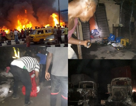 Three burnt to death, houses and cars destroyed in Abule Egba pipeline explosion (photos)