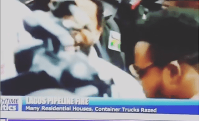 Lol. Channel TV reporter pushes colleague obstructing him during live TV coverage