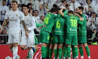 Real Madrid and Real Sociedad players