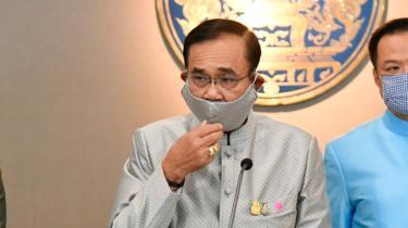 Thai PM Prayuth Chan-ocha wearing a cloth mask