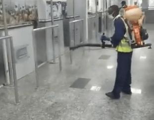 Coronavirus: FAAN fumigates Murtala Mohammed Int