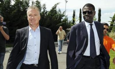 Didier Deschamps and Pape Diouf