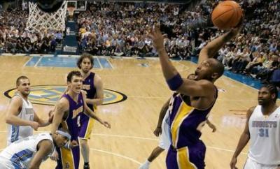 Kobe Bryant played for the Los Angeles Lakers between 1996 and 2016