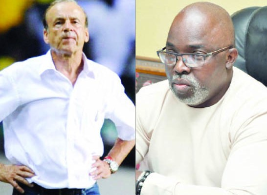 Gernot Rohr reacts to Amaju Pinnick