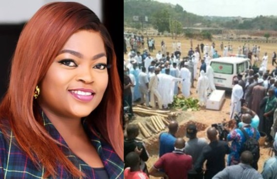 Why Funke Akindele trended on twitter during the burial of President Buhari