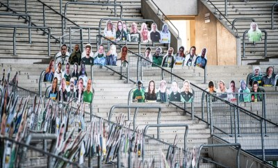 Coronavirus: 8000 Borussia fans pay for cardboard cutouts of themselves to fill stadium if league returns behind closed doors (photos)