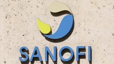 Sanofi logo on HQ in Paris, file pic