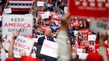 U.S. President Donald Trump speaks at a campaign rally in Charlotte, North Carolina, U.S., March 2, 2020