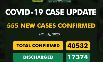 Nigeria records 555 new COVID-19 cases